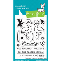 Lawn Fawn Flamingo Together Stamp Set