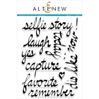 Altenew super script scrapbook Die and stamp bundle