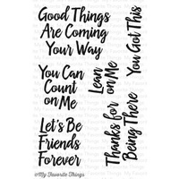 My Favourite Things Encouraging Words Stamp Set