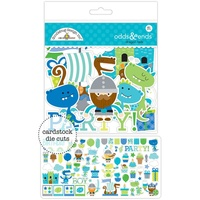 Doodlebug Dragon Tails Die Cut 81 Pieces