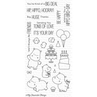 My Favorite Things Happy Hippos Stamp Set