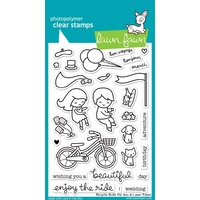 Lawn Cut Lawn Fawn Bicycle built for you stamp