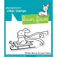Lawn Cut Lawn Fawn winter bunny stamp