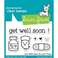 Lawn Fawn clear stamp Get Well Soon