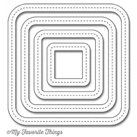 My Favorite Things Single Stitch Line Rounded Square Frames