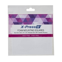 "X-Press It Foam Mounting Squares Size: 6mmx6mm, 1/4"" x 1/4""  Thickness 2mm Quantity 576 pieces"