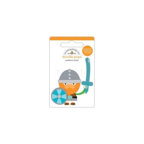 Doodlebug Wee Warrior 3D Pop Up Stickers