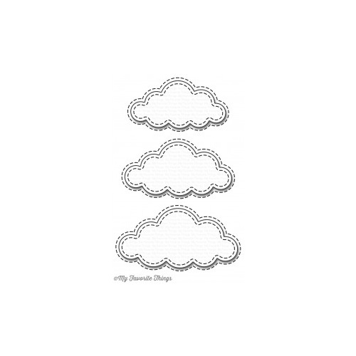 My Favorite Things Stitched Clouds Die
