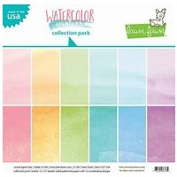 "Lawn Fawn Watercolor Wishes Collection 12"" x 12"" Paper Pack"