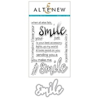Altenew Halftone Smile Stamp & Die Bundle