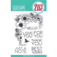 Avery Elle Floral Notes Stamp and Die Bundle