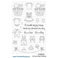 Your Next Stamp Baby Clothes Line Stamp Set
