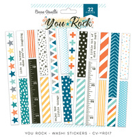 Cocoa Vanilla Washi Stickers You Rock
