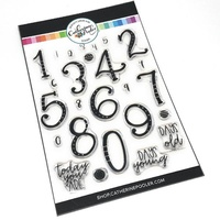 Catherine Pooler Milestone Birthday Numbers Stamp Set
