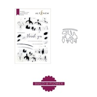 Altenew Build a Flower Fushia Stamp & Die Bundle