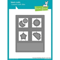 Lawn Fawn Foursquare Backdrop Portrait Die Set
