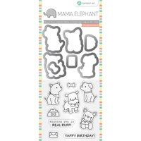 Mama Elephant Stamp & Die  Puppy Play