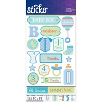 Sticko Stickers Flip Pack Baby Boy