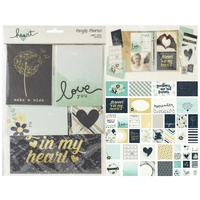 Simple Stories Sn@p Card Pack 48/Pkg Heart