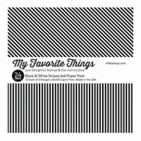 My Favorite Things 6x6 Paper Pack Black & White Stripes