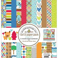"Doodlebug Double-Sided Paper Pack 12""X12"" 11/Pkg"
