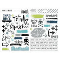 Cocoa Vanilla Boys Rule Clear Sticker Pack