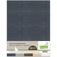"Lawn Fawn Shimmer Cardstock 81/2"" x 11"" Neutrals 10 Sheets"