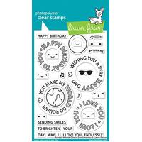 Lawn Fawn Photopolymer Reveal Wheel Circle Sentiments Stamp Set