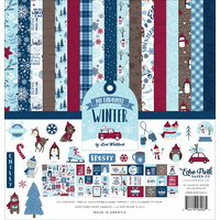 "Echo Park 12"" x 12"" Scrapbook Collection Kit My Favorite Winter"