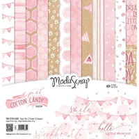 "ModaScrap 12"" x 12"" Scrapbook Collection Kit Pink Cotton Candy"