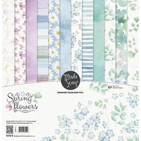 "ModaScrap 12"" x 12"" Scrapbook Collection Kit Spring Flowers"