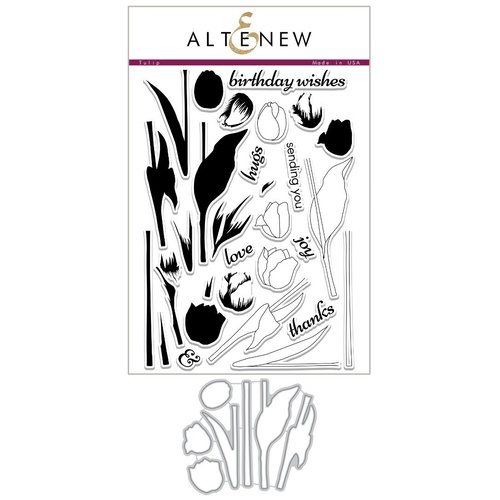 Altenew Tulip Stamp & Die Bundle