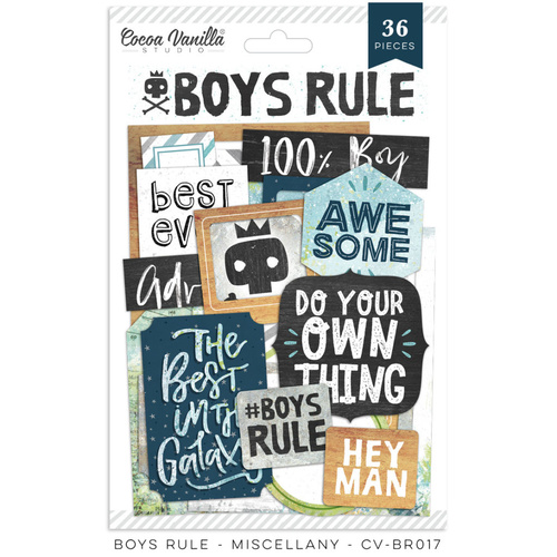 Cocoa Vanilla Boys Rule Miscellany Pack 36 Pieces