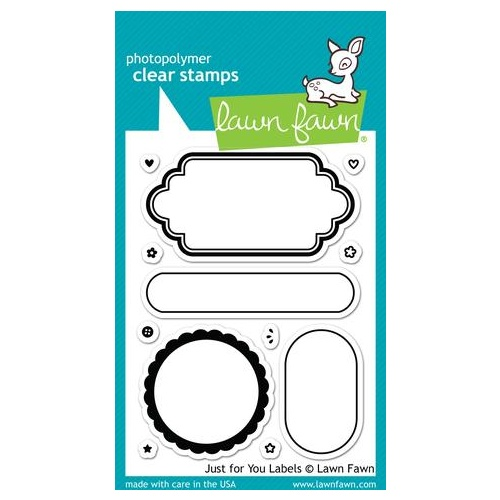 Lawn Fawn Just For You Labels Stamp Set