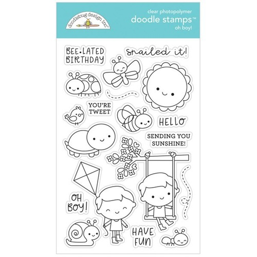 Doodlebug Oh Boy Stamp Set