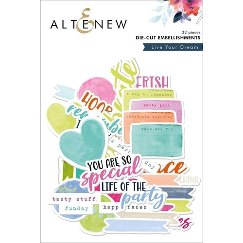 Altenew Live Your Dreams Die Cut Embellishments