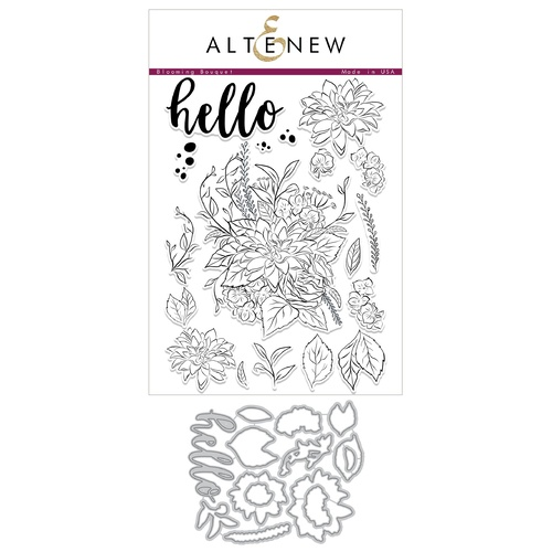 Altenew Blooming Bouquet Die and stamp bundle