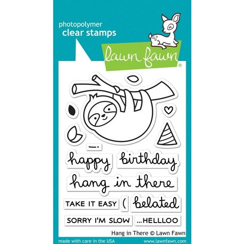 Lawn Fawn Hang in There Stamp Set