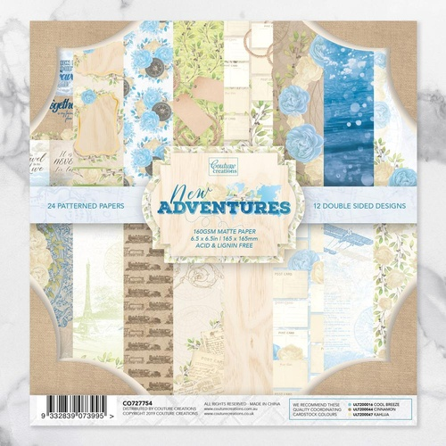 "Couture Creations 6.5"" x 6.5"" Paper Pad New Adventures"